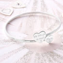 Personalised Sterling Silver Double Open Bangle
