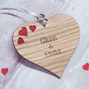 Personalised Couple's Hanging Valentine's Heart