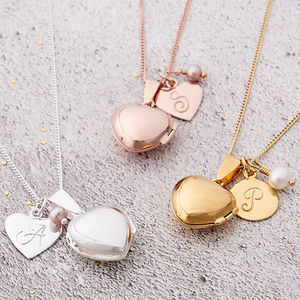 Heart Locket With Birthstone - gifts for her