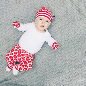Anchor Print Newborn Gift Set Up To Three Months - trousers & leggings
