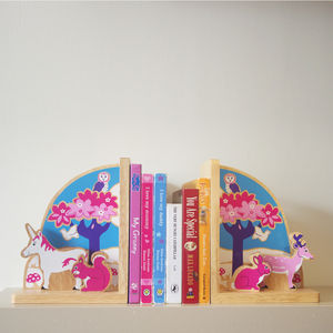 Fair Trade Enchanted Forest Bookend Set - home accessories