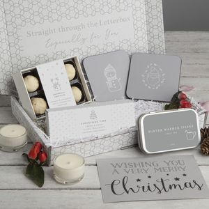 Christmas Letterbox Gift Set - candles & candlesticks