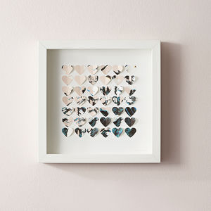 Patterned Hearts Frame - what's new