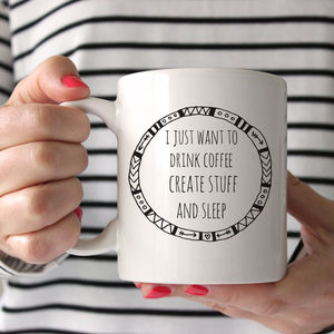 I Just Want To Drink Coffee Ceramic Mug