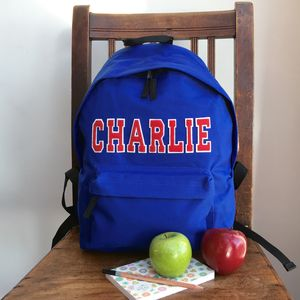 Personalised Applique Name Rucksack - back to school essentials