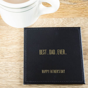 Leather Coaster For Dad