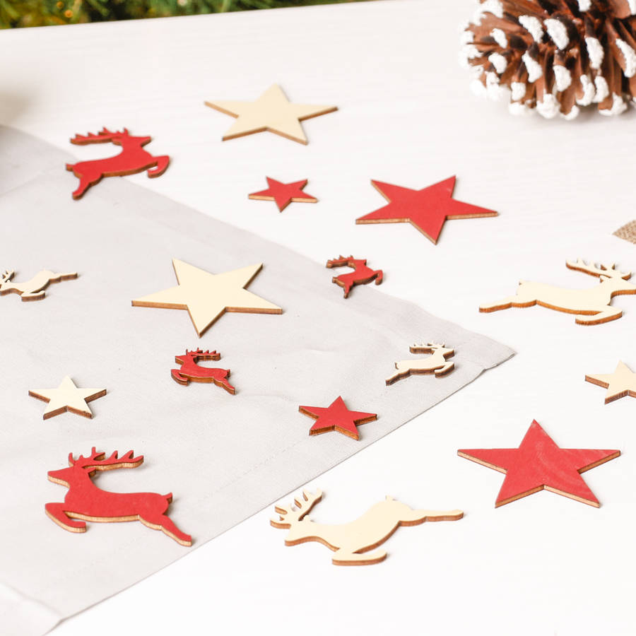 Stag And Star Wooden Table Scatters By Dibor