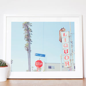 Personalised 'Liquor' American Street Sign Print - gifts for travel-lovers