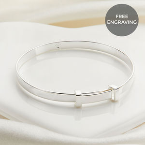 Personalised Sterling Silver Christening Baby Bangle