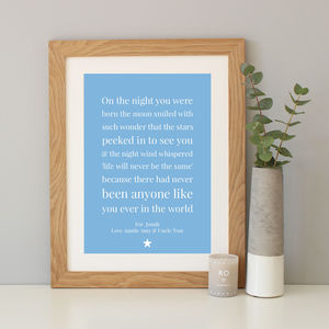 'On The Night You Were Born' Baby Gift