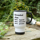 Personalised Percentage Travel Mug
