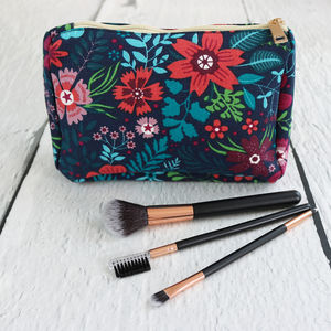 Wildflower Print Wash Bag - make-up & wash bags