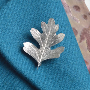 Hawthorn Leaf Brooch - pins & brooches