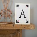 Alphabet Vintage Letter Card