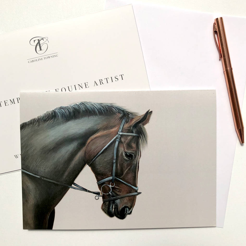 Equine Art Greeting Card Horse Gifts Equestrian