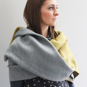 Personalised Reversible Pleated Cashmere Scarf Shawl