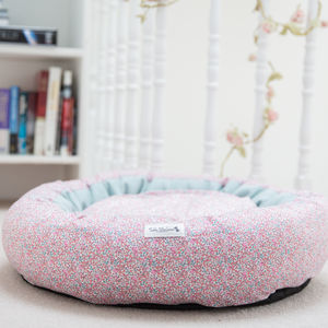 Pink Liberty Print Cocoon Bed - pet beds baskets