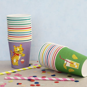 24 Party Animal Paper Cups