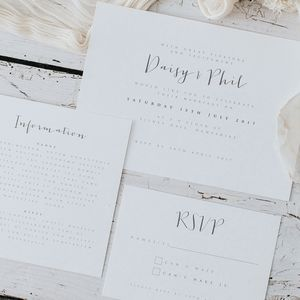 Amour Wedding Invitation Set - what's new