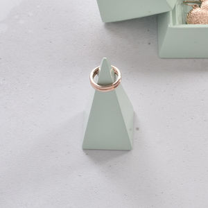 Duck Egg Pyramid Jewellery Peak Small - bedroom