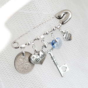 Personalised Wedding Bridal Pin - pins & brooches