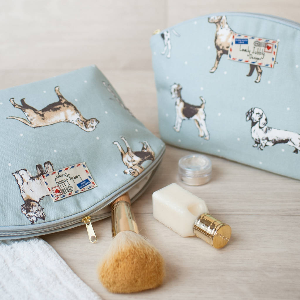 43890cb63 dog lovers breeds dogs gift makeup toiletry wash bag by lovely ...