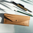 Oak Bark Tanned Leather Pencil Case