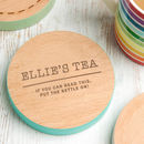 Personalised Wooden Drinks Coaster For Teachers