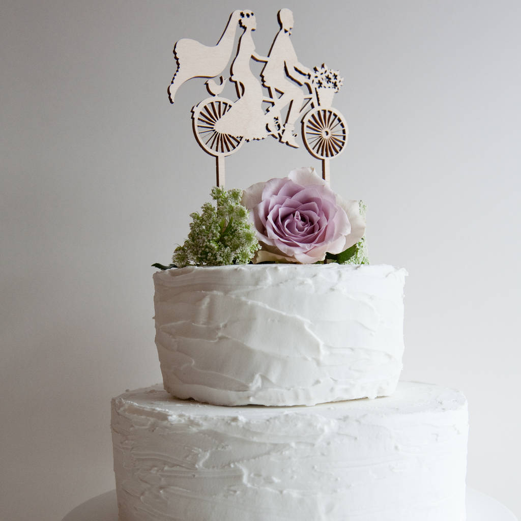wedding cake topper bicycle made for two by the hummingbird card ...