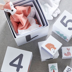 Personalised Scandi Style Stacking Blocks - gifts for children