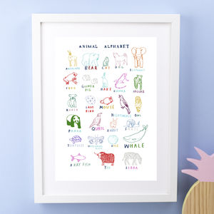 Alphabet Print - pictures & prints for children