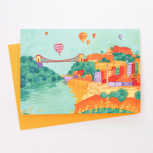 A Blank Bristol Suspension Bridge Greetings Card