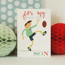 Rugby Son Greetings Card