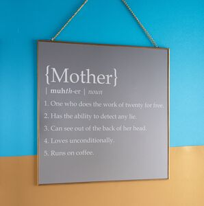Personalised 'Definition Of Mother' Square Mirror