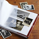 Personalised Distressed Leather Photo Album