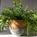 Copper Or Brass Verdigris Planter