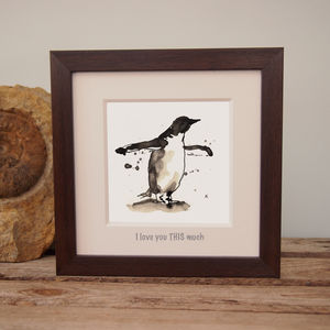 Penguin Print 'I Love You This Much'
