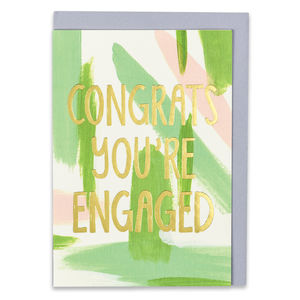 'Congrats You're Engaged' Card