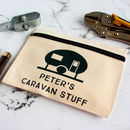 Personalised Zipped Pouch For Caravan Lover