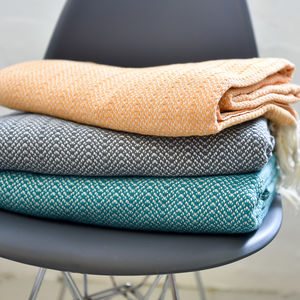 Oslo Large Cotton Throw - throws, blankets & fabric