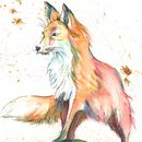 Pack Leader, Watercolour Fox Print