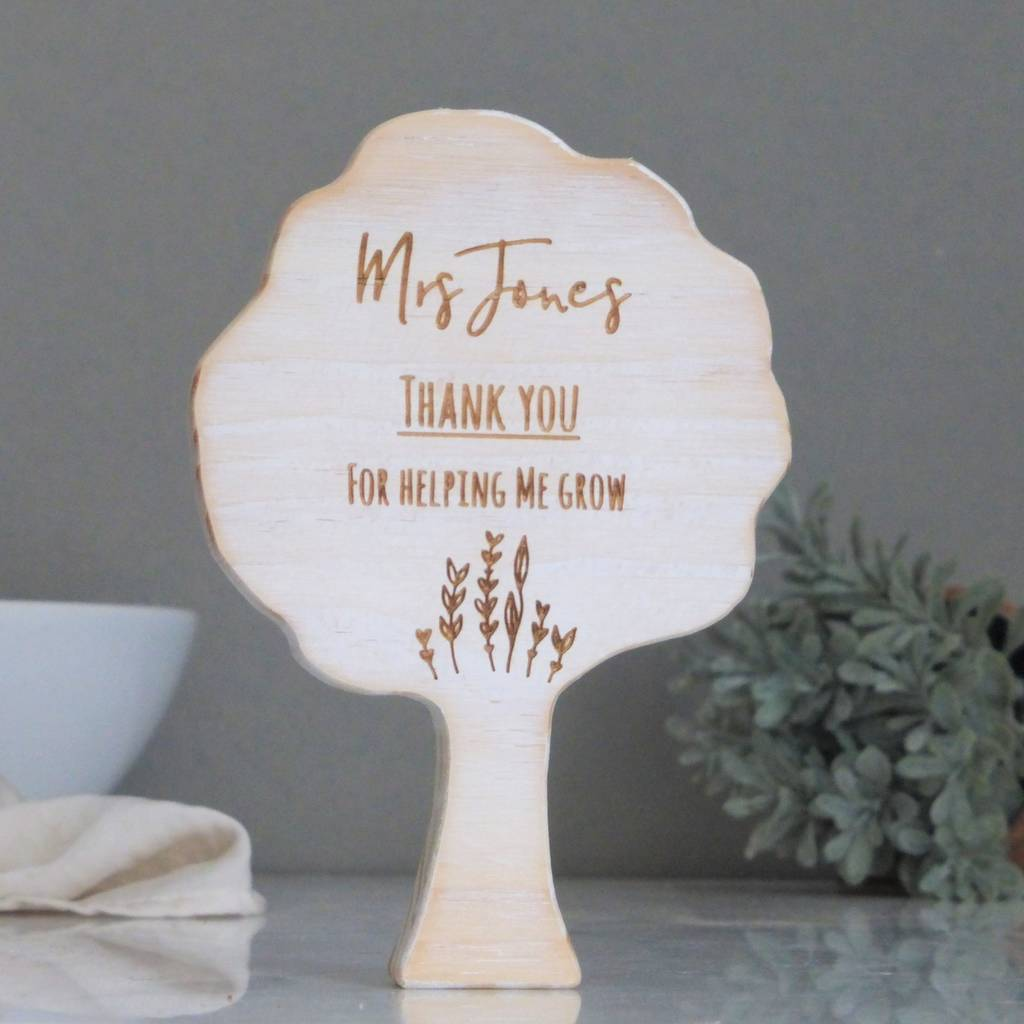Teacher Gift Personalised Wooden Tree
