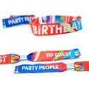 Birthdayfest Festival Birthday Party Wristbands