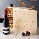 Christmas Engraved Wine Box