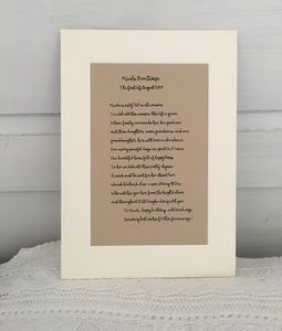 Personalised Poetry ~ Dedicated Birthday Sonnet - limited edition art