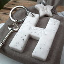 Personalised Marble Letter Keyring