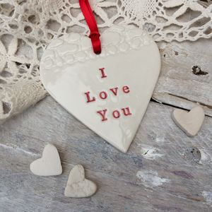Personalised Porcelain Love Heart Keepsake