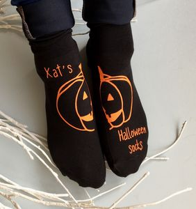 Personalised Halloween Pumpkin Socks - women's fashion