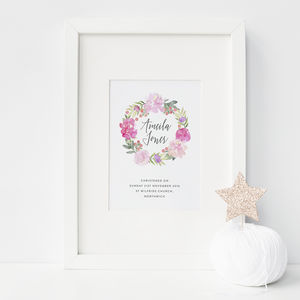 Personalised Christening Print - christening sale gifts