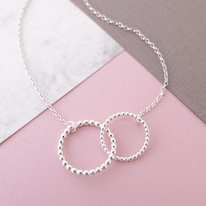 Silver Double Bubble Necklace